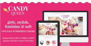 Candy Queen Responsive Multi Purpose OnePage WordPress Theme WordPress ThemeForest